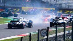 Accidente Gran Premio de la Toscana. (AFP)