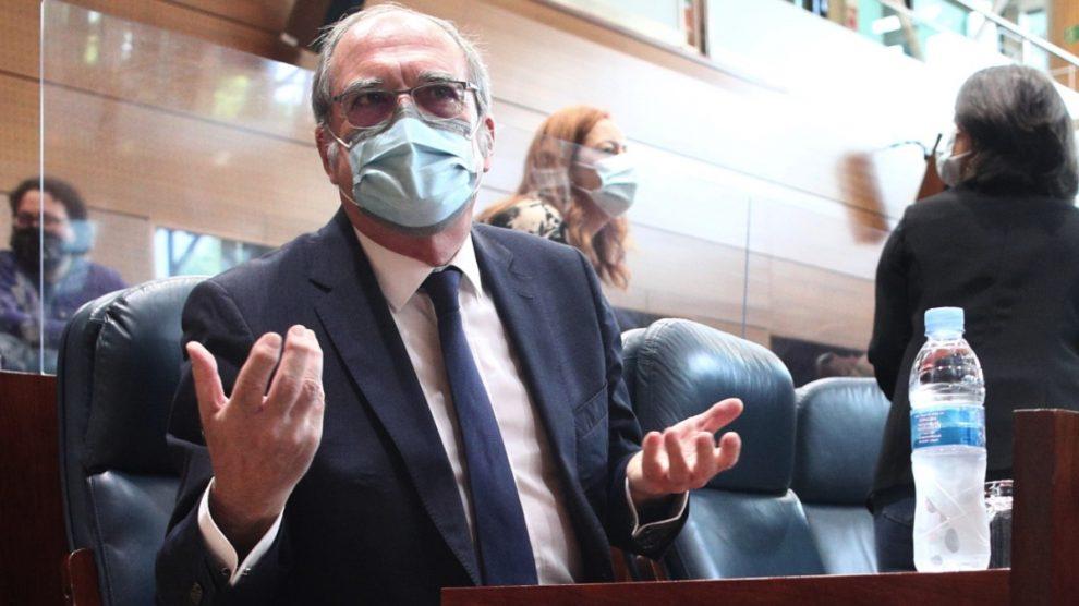 Ángel Gabilondo en la Asamblea de Madrid. (Foto: EP)