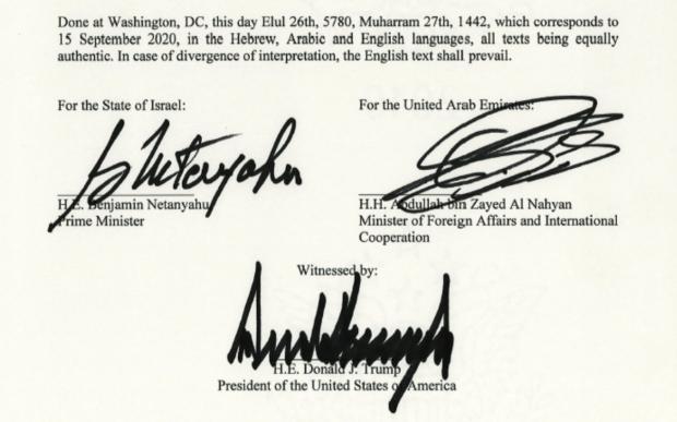 Trump acoge en la Casa Blanca la histórica firma de los acuerdos de Israel con los Emiratos y Baréin