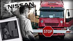Nissan veta la entrada a los empleados de Acciona y saca a la calle sus pertenencias en un camión