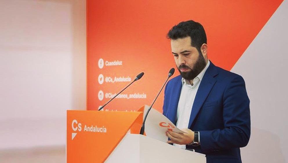 Fran Carrillo, portavoz adjunto de Ciudadanos en el Parlamento de Andalucía.