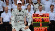 Michael Schumacher en su despedida de la Fórmula 1. (AFP)