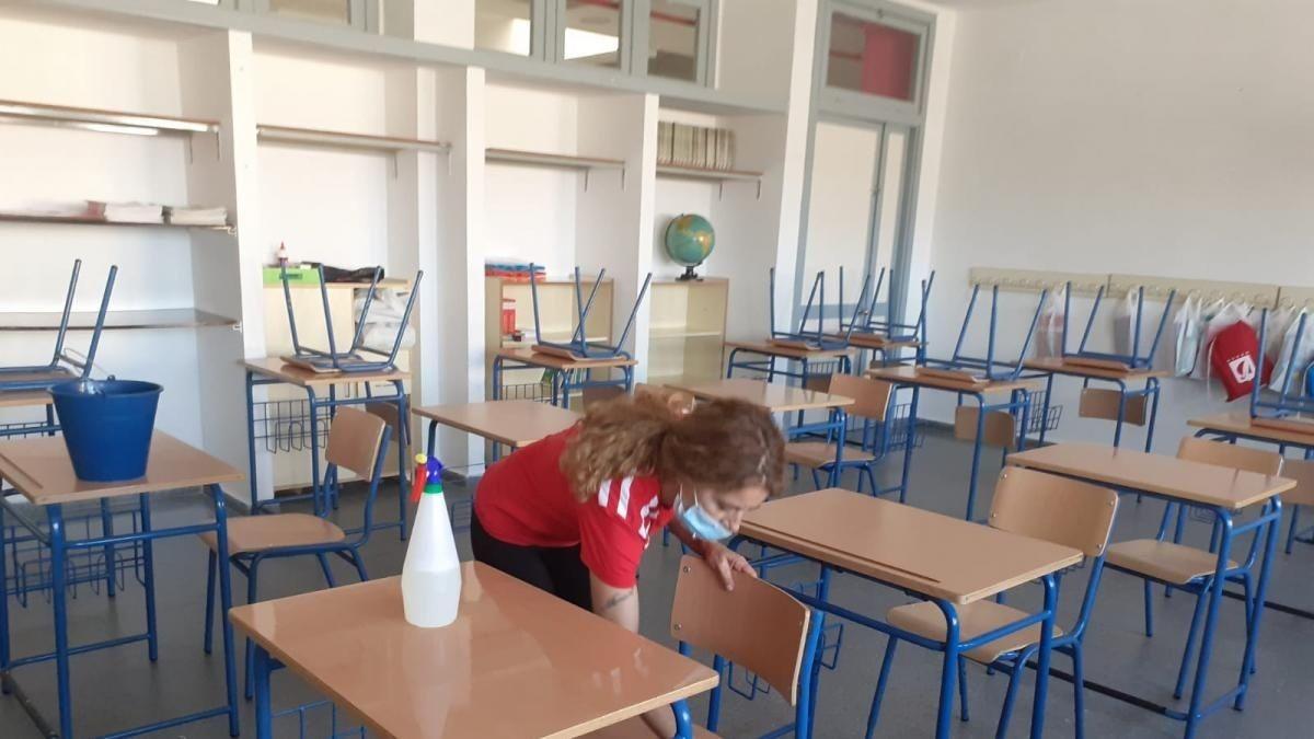 Desinfección de un colegio