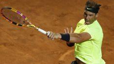 Rafa Nadal, en el partido contra Carreño en Roma. (AFP)