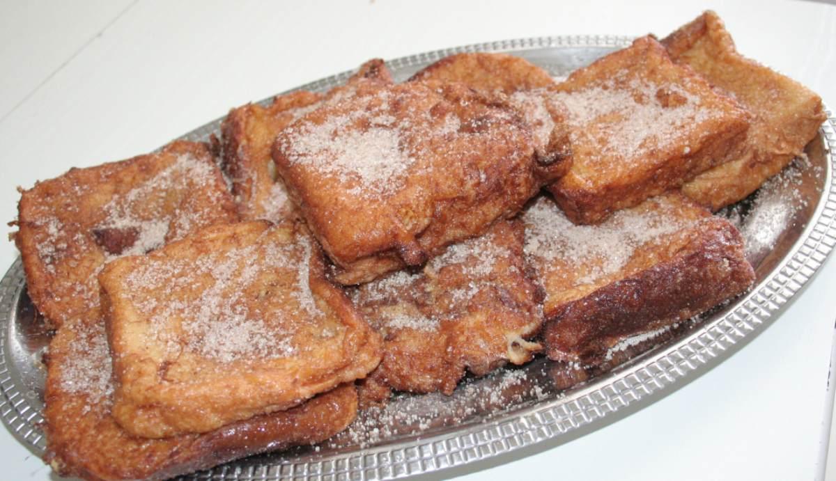 Receta de Torrijas de plátano, canela y anís sin azúcar