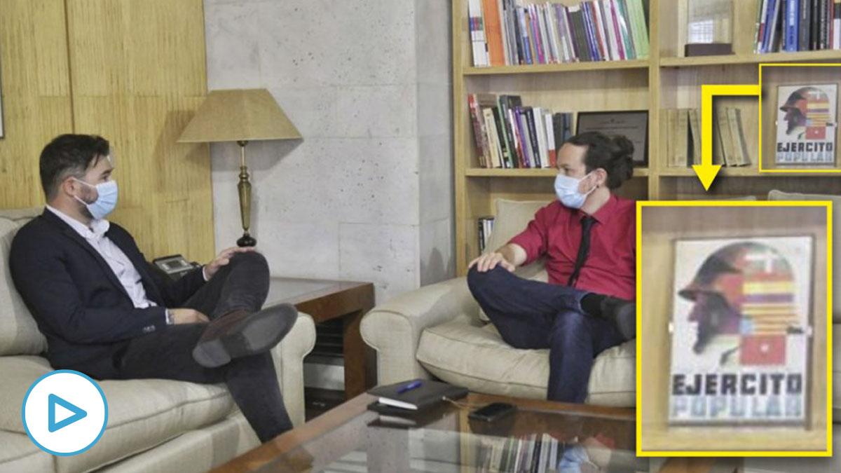 Pablo Iglesias reunido con Rufián.