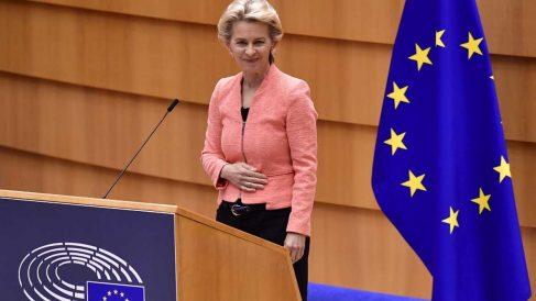 Ursula Von der Leyen, presidenta de la Comisión Europea. Foto: AFP