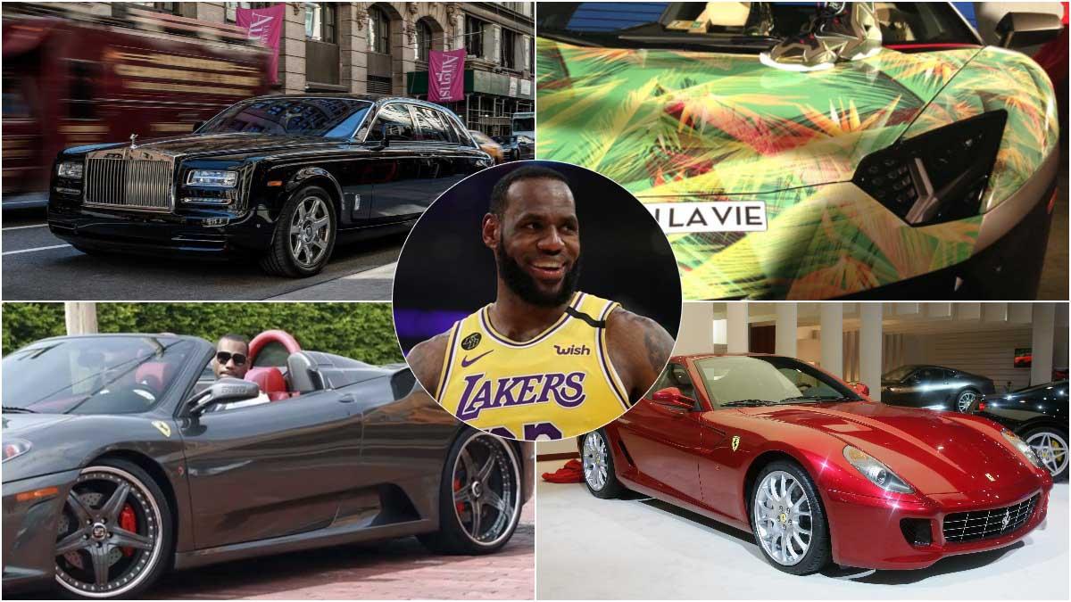 Cuatro de los coches de LeBron James.