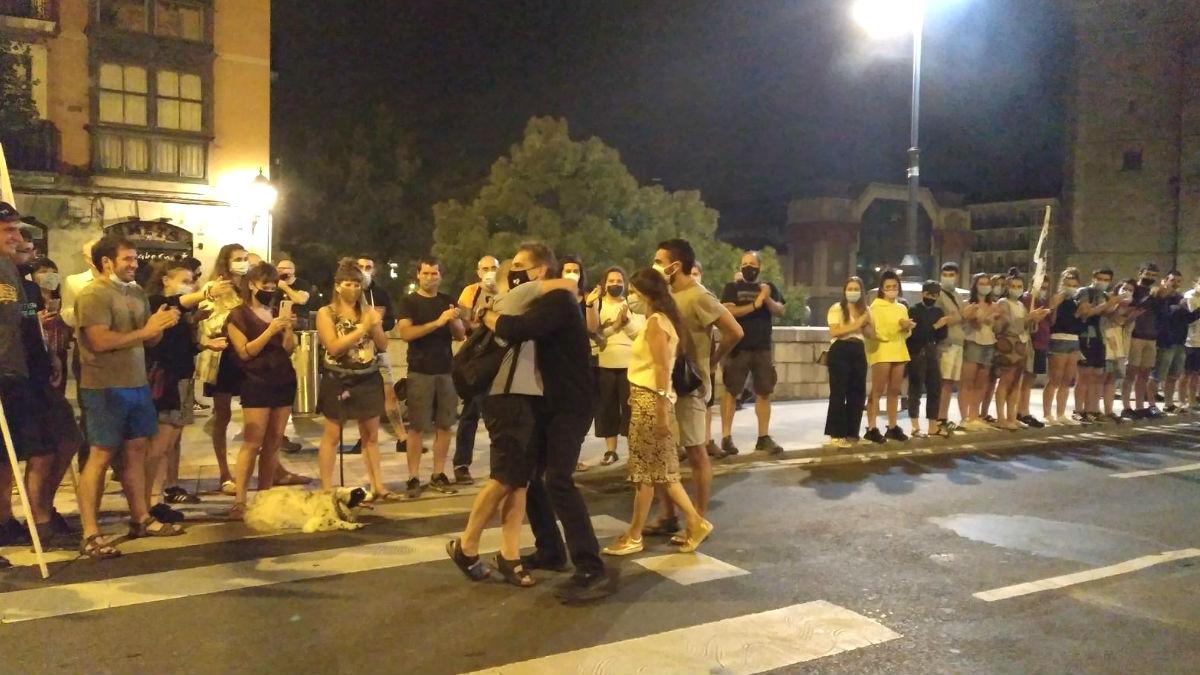 El homenaje al etarra Ibon Goieaskoetxea en Bilbao en plena pandemia.