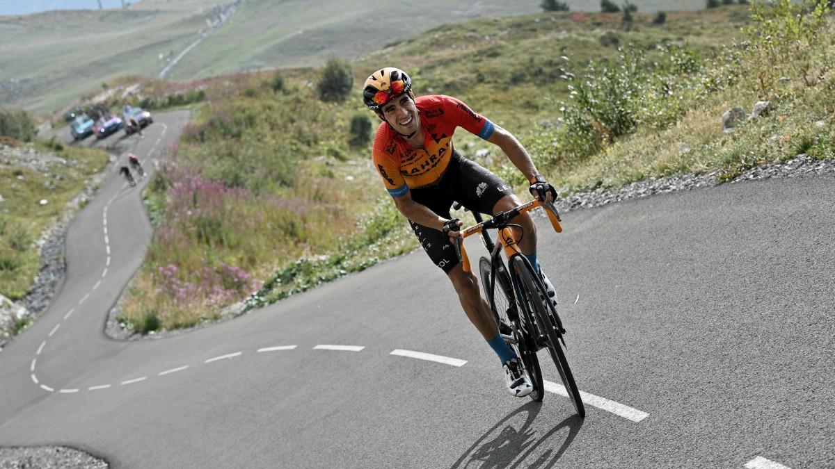 Mikel Landa, en las rampas del Col de la Loze. (AFP)