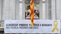 Pancarta por los presos golpistas. Foto: @QuimTorraiPla
