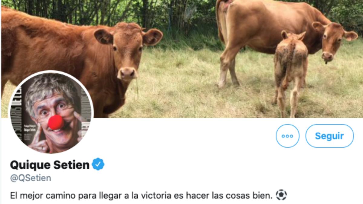 Perfil oficial de Twitter de Quique Setién, ex entrenador del Barcelona.