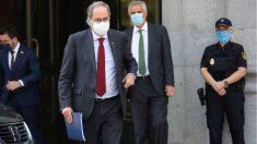 El presidente de la Generalitat, Quim Torra, a su salida del Tribunal Supremo este jueves en Madrid. (Foto: Efe)