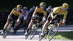 Primoz Roglic durante la etapa 19 del Tour de Francia. (AFP)