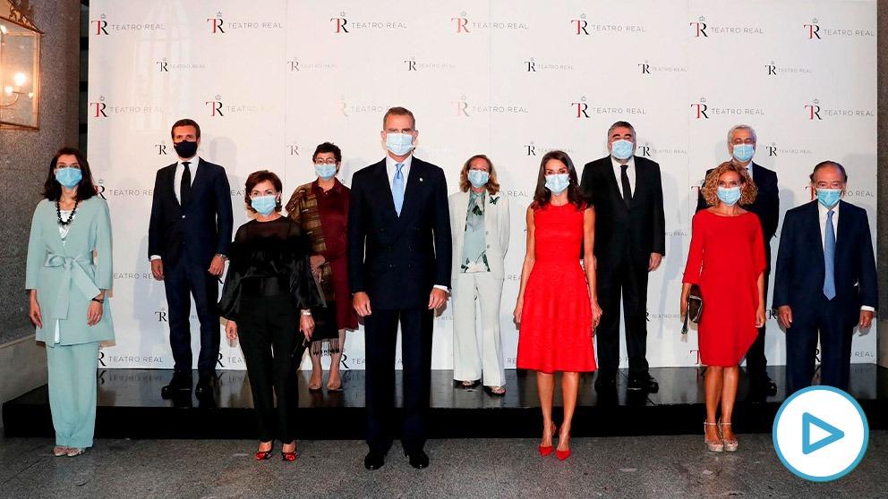Los Reyes inaguran la nueva temporada operística del Real