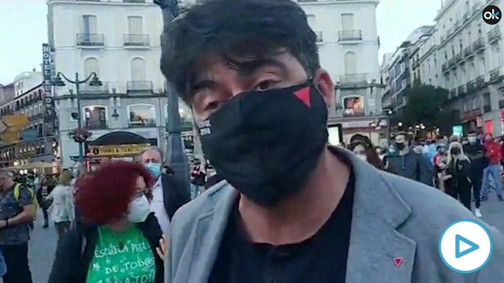 El comunista Sánchez Mato aprovecha la protesta contra Ayuso para criticar a OKDIARIO