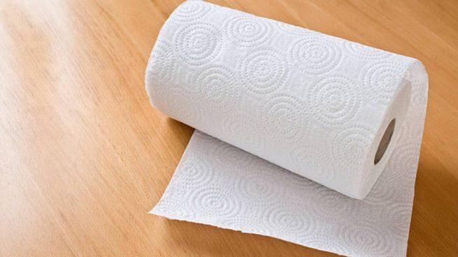 limpiar papel de cocina