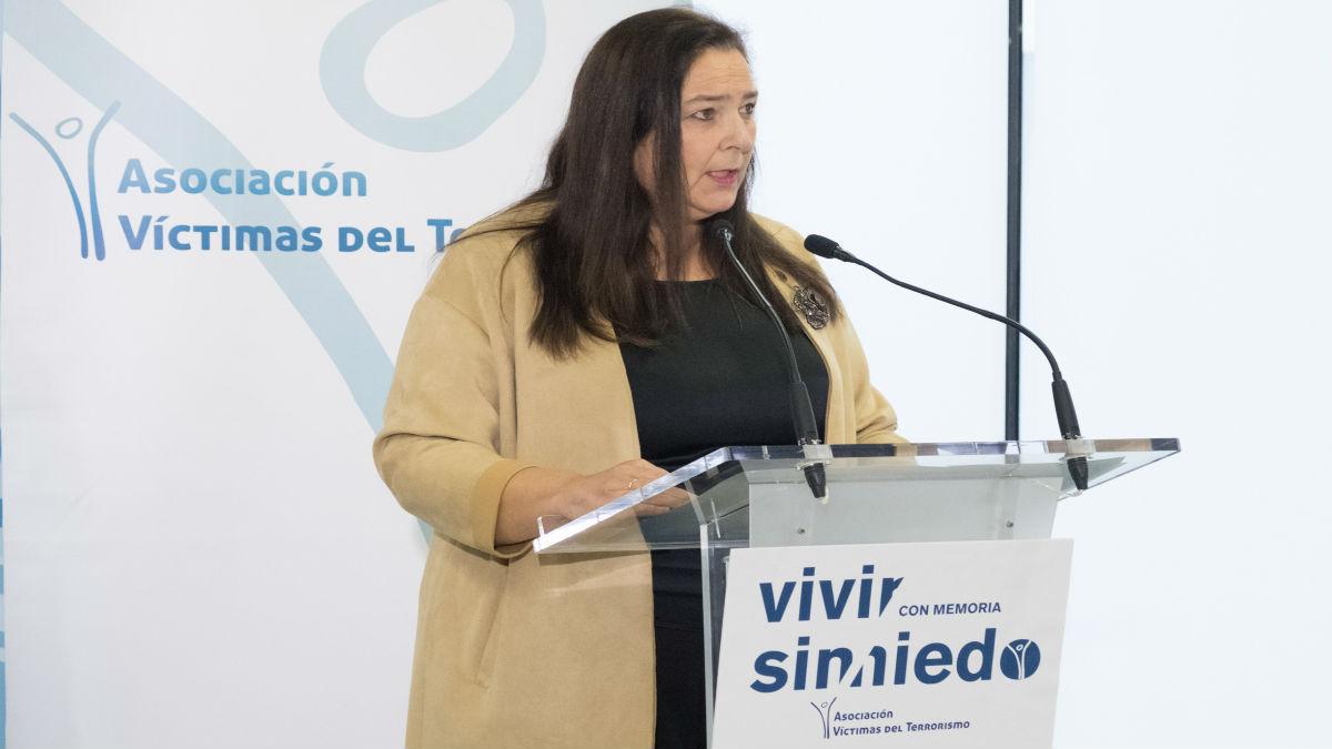 Maite Araluce, reelegida presidenta de la AVT. (Foto: Europa Press)
