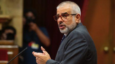 El líder de Cs en Cataluña, Carlos Carrizosa, interviene durante el Debate de Política General (DPG). (Foto: David Zorrakino : Europa Press)