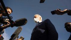 El candidato demócrata a la presidencia de los Estados Unidos, Joe Biden, atiende a la prensa. Foto: AFP