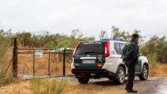 La Guardia Civil en la finca de la familia de asesino confeso de Manuela Chavero. Foto: EP