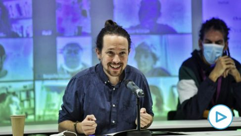 Pablo Iglesias, este sábado en el Consejo Ciudadano Estatal.