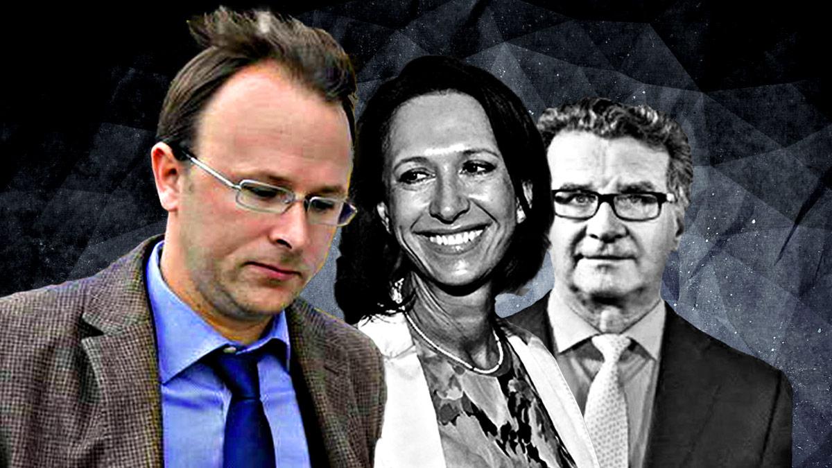 El fiscal Yves Bertossa junto a Marta Gayá y Arturo Fasana.