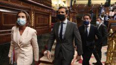 Casado, Gamarra y García Egea en el Congreso de los Diputados.