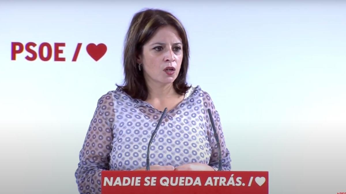 La vicesecretaria general y portavoz socialista en el Congreso, Adriana Lastra. Foto: EP