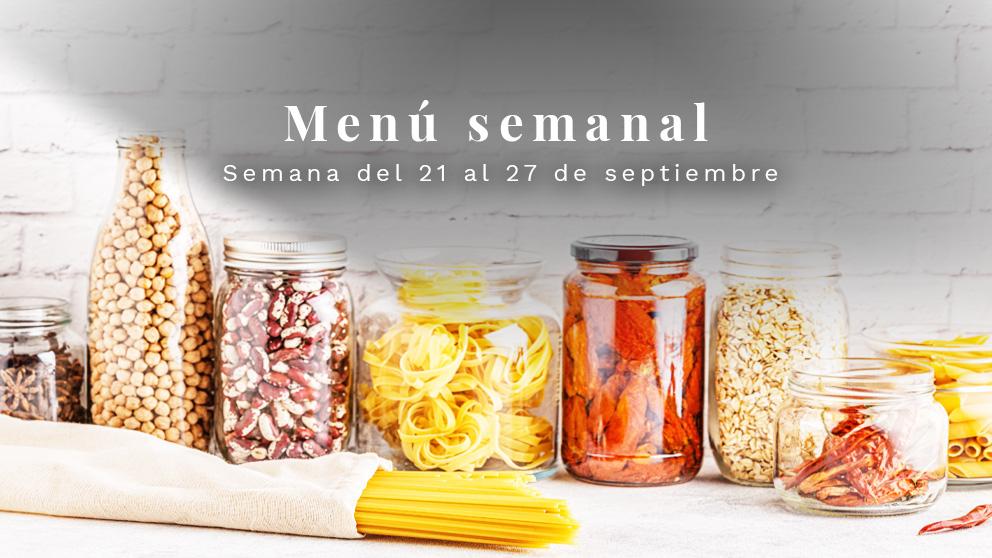 Menú semanal saludable: Semana del 21 al 27 de septiembre de 2020