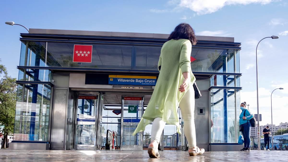 Metro del barrio de Villaverde, Madrid. Foto: EP