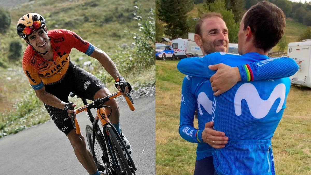 Mikel Landa, Valverde y Mas.