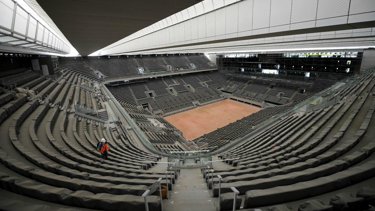 Nuevo aspecto para la Philippe Chatrier, pista central de Roland Garros. (AFP)