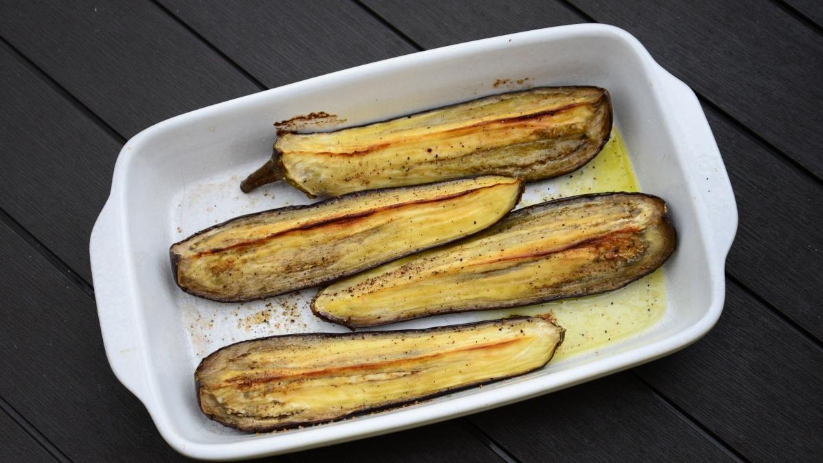 Berenjena al horno con miel y vinagre de Módena (1)