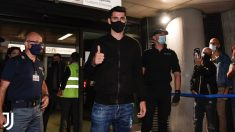 Morata, después de llegar a Turín. (Juventus)