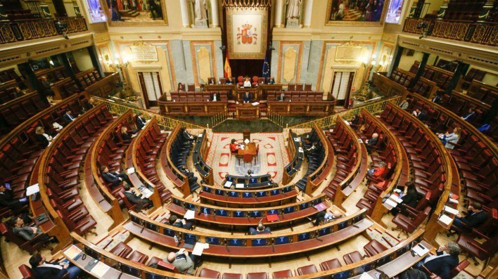 Pleno semivacío del Congreso en la presente legislatura. (Foto: Congreso)