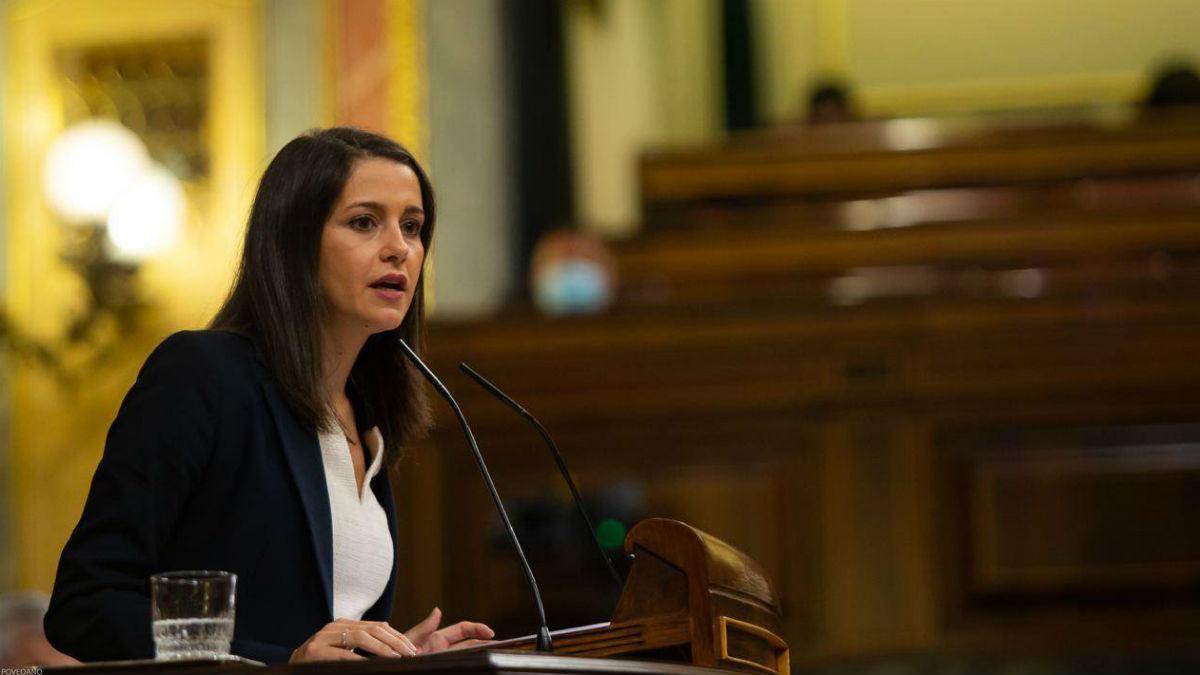 La presidenta de Ciudadanos, Inés Arrimadas, en el Congreso. (Foto: Congreso)