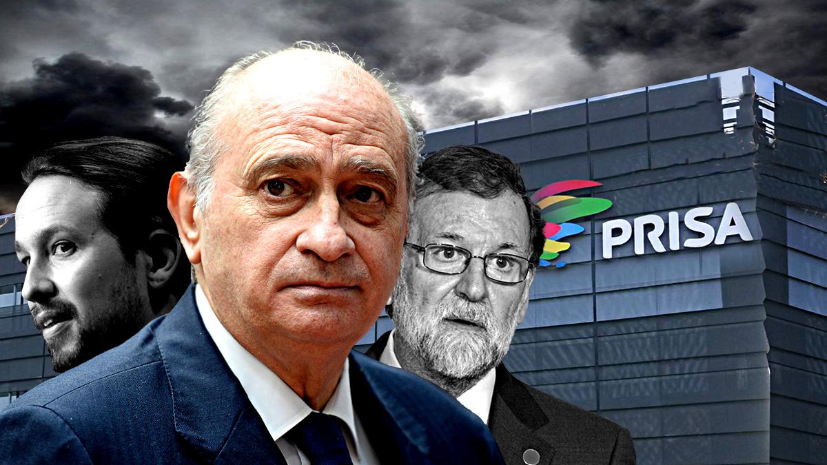 Jorge Fernández Díaz, Mariano Rajoy y Pablo Iglesias
