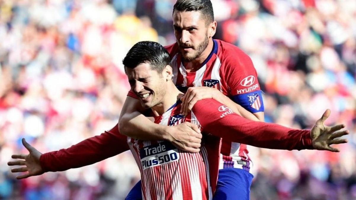 Álvaro Morata celebra un gol con el Atlético. (Foto: Instagram Morata)