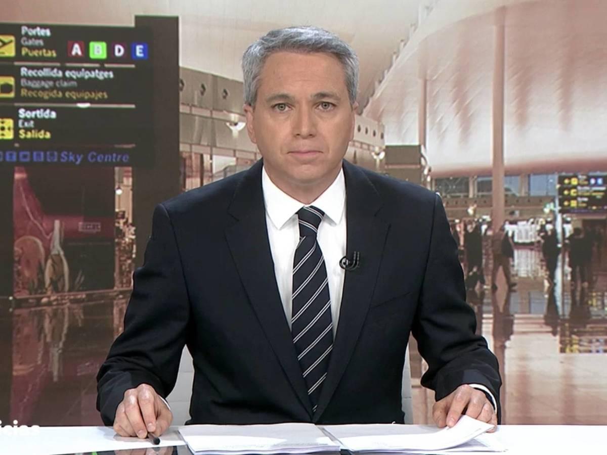 Vicente Vallés en los Informativos de Antena 3