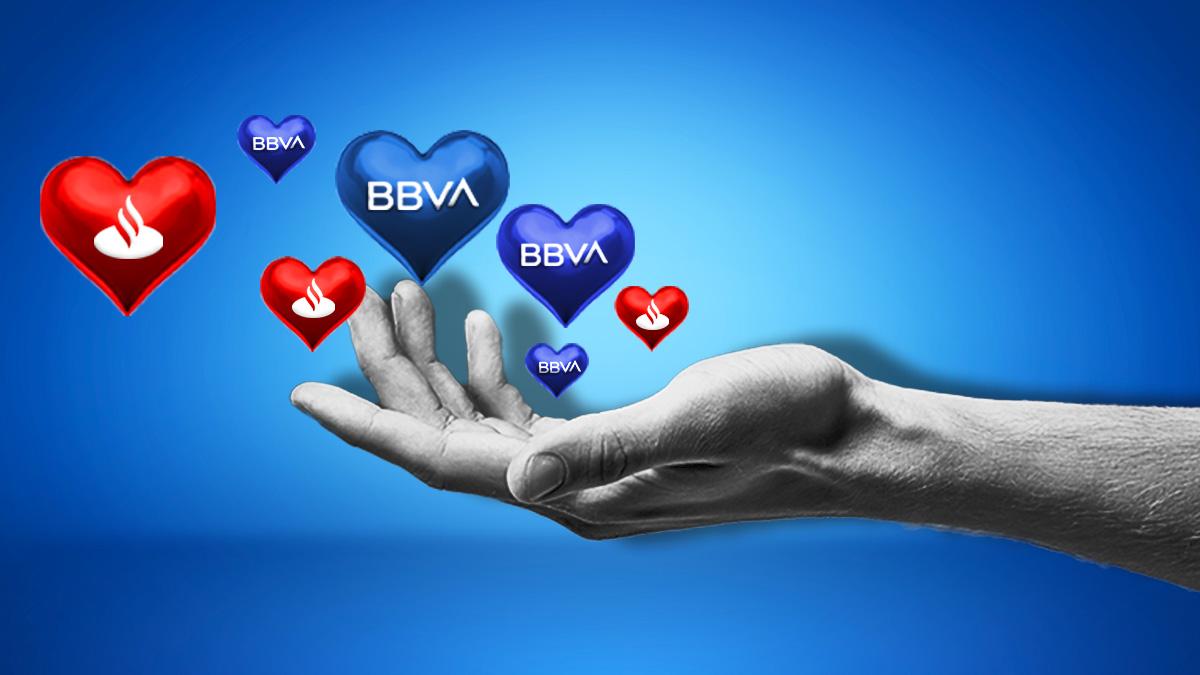 Imagen con logos de BBVA y Santander.