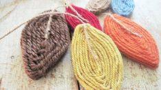 Todos los pasos para poder hacer hojas de otoño con un poco de lana