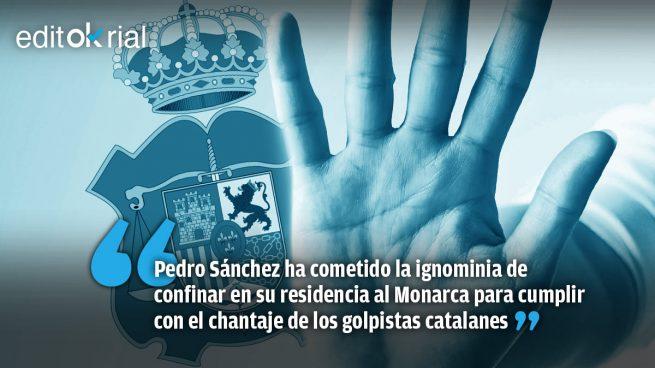 Sánchez confina al Rey
