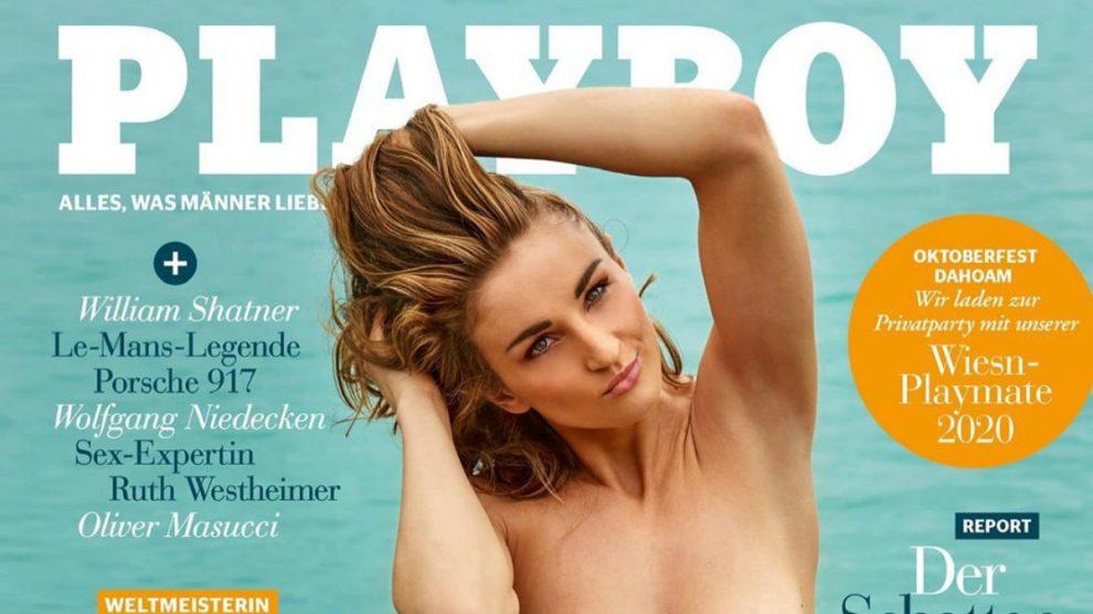 Elena Krawzow, en la portada de Playboy.