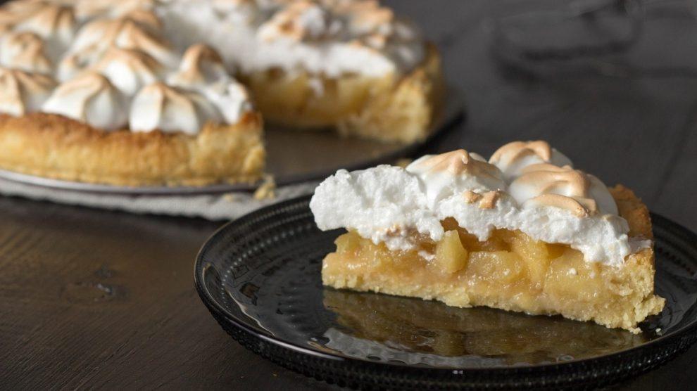 Tarta de manzana con merengue