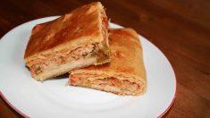 Receta de Empanada de raxo: lomo de cerdo, chorizo y jamón serrano