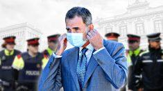 El Rey Felipe ante Mossos d'Esquadra