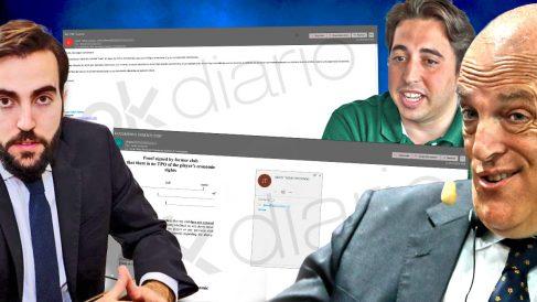 Javier Tebas volvió a mentir intentando escudarse en su hijo cuando él estaba en copia de los emails del Fuenlabrada.