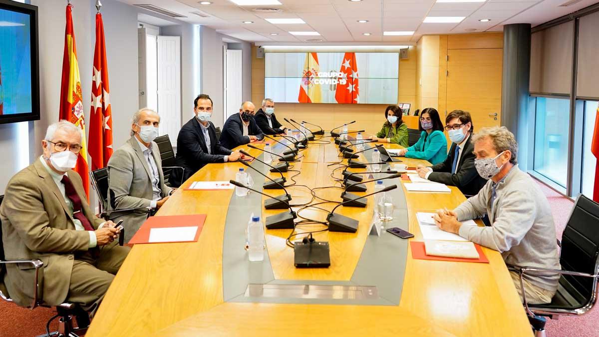 Grupo Covid de Madrid y Gobierno central