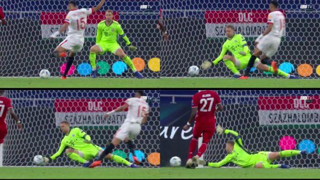 Ahí estuvo el triunfo: el paradón de Neuer a En-Nesyri que dejó al Sevilla sin Supercopa